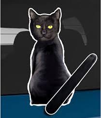 Amazon Com Wagging Wipers Black Cat Car Rear Wiper Sticker Decal Automotive