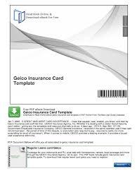 geico insurance card template pdf