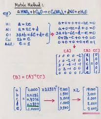 balancing chemical equations using