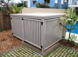 Aluminium Slatted Fencing Pool Storage Pool Equipment Enclosure Pool Equipment Cover