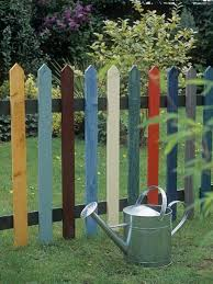 My Kind Of Picket Fence Cory Just Sent Me This And Said He S Building It For Me Maybe We Ll Paint Them Brighter Colo Backyard Design Backyard Fences Backyard