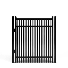 China Garden Zone Powder Coated Aluminum Flat Top Decorative Metal Fence Gate China Door Aluminum Gate