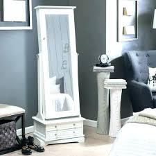 floor standing jewelry box with mirror