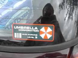 Resident Evil Umbrella Corporation Parking Decal Youtube