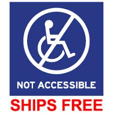 Window Decals Not Accessible Symbol 6x6 Stopsignsandmore Com