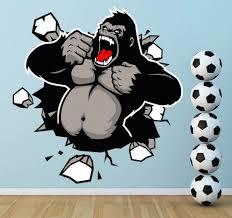 King Kong Smashing Through Wall Legends Wall Art