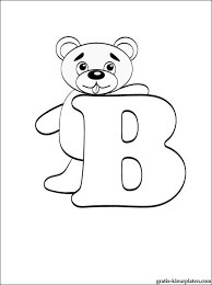 Letter B Kleurplaat Gratis Kleurplaten Kleurplaten Alfabet
