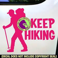 Keep Hiking Hiker Vinyl Decal Sticker Gorilla Decals