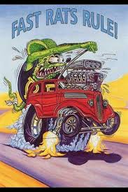 Rat Fink Racing Team Decal Hot Rat Rod Car Sticker Ed Big Daddy Roth Ushirika Coop