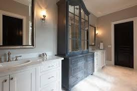 dark gray distressed bathroom linen
