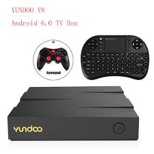 YUNDOO Y8 Android 6.0 Smart TV Box RK3399 Chipset Media Player 2G 16G/4G  32G 4 Karat HD Wifi Bluetooth Cortex-A72 Set Top Box PK X96