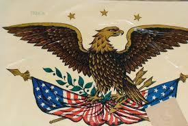Eagle Sticker For Wood Application Two Vintage Patriotic American Eagle Decals By Vintageheartstrings Flag Decal Patriotic Images Baltimore Album Quilt