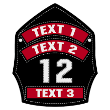 Custom Leather Helmet Front Decal The Emergency Mall