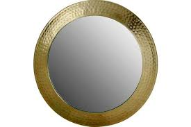 bradbury antique gold leaf mirror