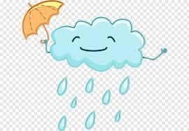 Rain Cloud Drawing Weather Transparency, Watercolor, Paint, Wet ...