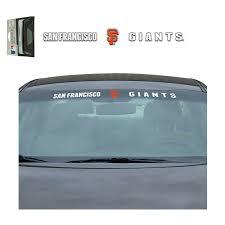New Mlb San Francisco Giants Car Truck Suv Windshield Vinyl Decal 681620808254 Ebay