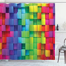 ambesonne colorful shower curtain