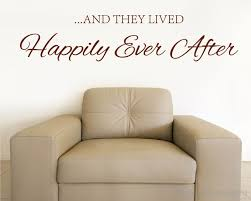 Happily Ever After Quotes Wall Decal Love Quote Vinyl Art Stickers
