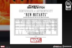 marvel new mutants fine art lithograph