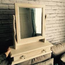 shabby chic dressing table mirror with
