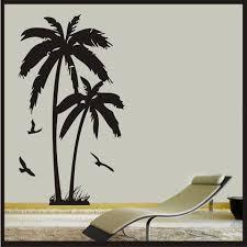 Palm Tree With Birds Wall Art Vinyl Sticker Decal Wall Beach Hawaii Stickerconnection