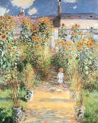 garden at vetheuil painting by claude monet