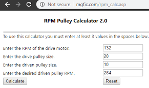 5 pulley rpm calculator free