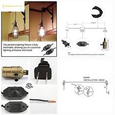 socket plug in pendant light kit cord