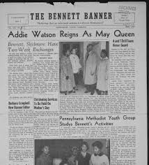 The Bennett banner : bulletin of Bennett College for Women. online resource  (None) 193?-current, April 01, 1958, Image 1 · North Carolina Newspapers