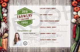 Farmers Market Schedule 2019