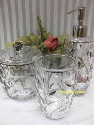 bella lux glass silver leaves tumbler