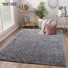 Amazon Com Soft Kids Room Rug Grey Shag Area Rugs For Bedroom Living Room Carpet Plush Fluffy Fur Rug For Nursery Girls Dorm Home Decor 4x6 Feet Grey Kitchen Dining