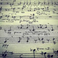 """Kaddish"""" for oboe solo (1963) by Abel Ehrlich (manuscript from his  collection at ADK Berlin). #music #musicology #instagra… 