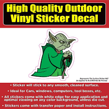 Star Wars Yoda Vinyl Bumper Window Laptop Decal Sticker Colorado Sticker