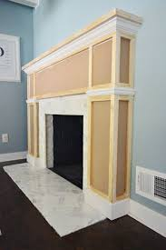 building a new mantel brick fireplace