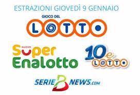 Lotto, SuperEnalotto e 10eLotto 9 gennaio 2020: jackpot a 57,8 milioni