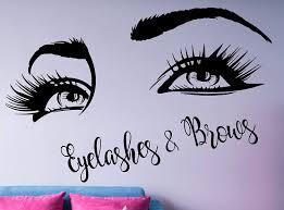 Amazon Com Eyelash Wall Decal Eyelash Extension Beauty Salon Decor Eyelash Wall Decor Eyelash Sticker Art Eyelash Decor Bedroom Living Room And Stick Wall Decals Home Kitchen