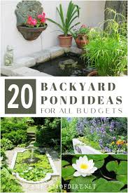 20 beautiful backyard pond ideas for