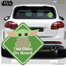 Official The Child Star Wars Car Window Decals