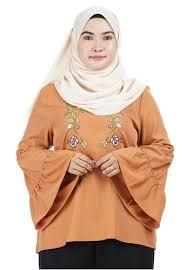 Buy Ashura Ivy bell gathered sleeve Top Online   ZALORA Malaysia