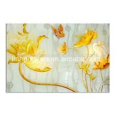 linhao 3d contemporary flower glass