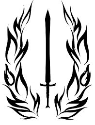 Sword And Wings Mercenary Symbol Vinyl Sticker Shooter Jobs