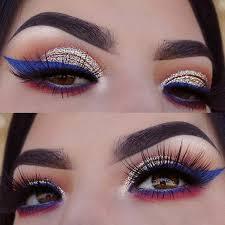 simple 4th of july makeup saubhaya makeup