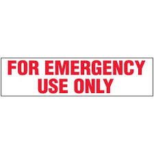 Emergency Use Only Label Emedco