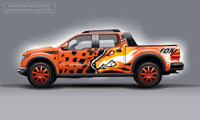 Premium Vector Editable Template For Wrap Suv With Orange Evil Fox Decal Hi Res Vector Graphics