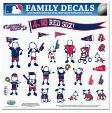 Boston Red Sox 11 X11 Family Car Decal Sheet Detroit Game Gear