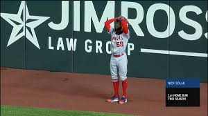 Video Jo Adell Accidentally Knocks Routine Fly Ball Over Fence