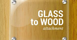 how to attach glass to wood there