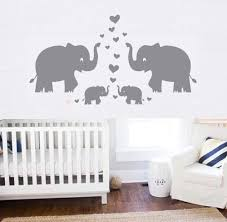 Amazon Com Elephant Wall Decal Family Wall Decal With Hearts And Butterfly Wall Decals Baby Nursery Decor Kids Room Wall Stickers Grey Arts Crafts Sewing