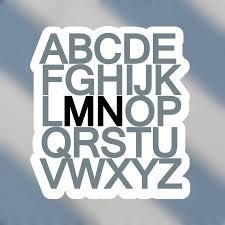 Abc Minnesota Vinyl Sticker Minnesota Awesome